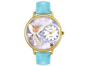 Angel Baby Blue Leather And Goldtone Watch #G0710005