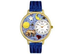 Taurus Royal Blue Leather And Goldtone Watch #G1810012