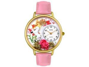 Unicorn Pink Leather And Goldtone Watch #G1610002