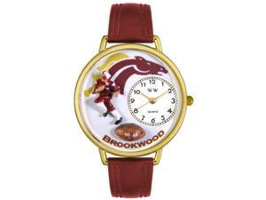 Whimsical Watches Unisex Football Fundraising Gold Watch Watch G1120006