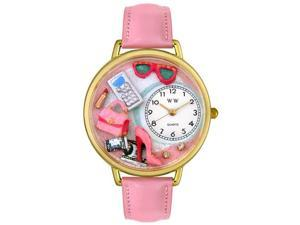 Shopper Mom Pink Leather And Goldtone Watch #G1010008