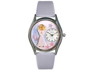 Angel Baby Blue Leather And Silvertone Watch #S0710005
