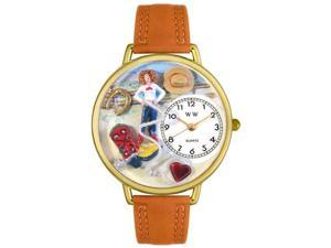 Whimsical Watches Unisex Cowgirl Gold Watch Watch G0110011