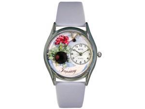 Birthstone: January Baby Blue Leather And Silvertone Watch #S0910001