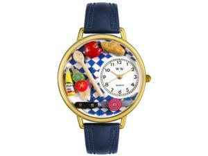 Gourmet Navy Blue Leather And Goldtone Watch #G0310001