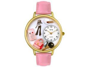 Teen Girl Pink Leather And Goldtone Watch #G1610008