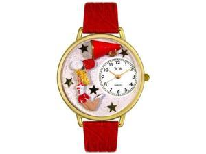 Cheerleader Hunter Green Leather And Goldtone Watch #G0820015