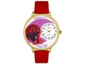 Red Hat Red Leather And Goldtone Watch #G0470007