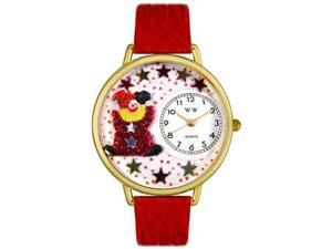 Red Star Clown Red Leather And Goldtone Watch #G0210008