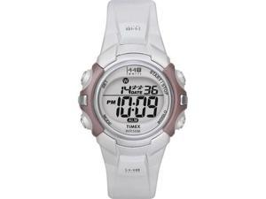 Timex Women's T5G881 White Resin Quartz Watch with Grey Dial