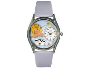Nurse Angel Baby Blue Leather And Silvertone Watch #S0610007