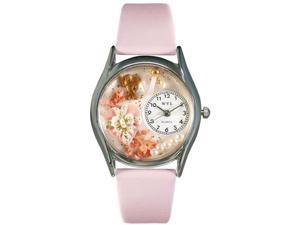 Valentine's Day Pink Pink Leather And Silvertone Watch #S1220013