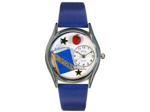 History Teacher Royal Blue Leather And Silvertone Watch #S0640009