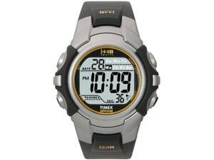 Timex Men's T5J561 Black Resin Quartz Watch with Grey Dial