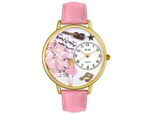 Ballet Shoes Pink Leather And Goldtone Watch #G0510003