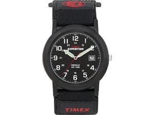 Timex Men's T40011 Black Nylon Quartz Watch with Black Dial