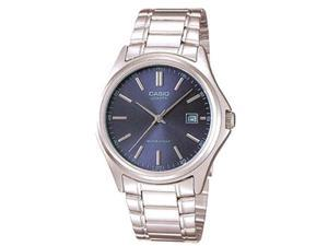 Casio Men's MTP1183A-2A Silver Stainless-Steel Quartz Watch with Blue Dial