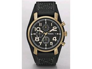 Fossil Vintaged Bronze Chronograph Black Dial Men's watch #DE5008