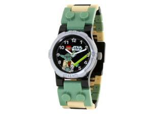 LEGO Children's LEGO Star Wars Yoda 9002076 Green Plastic Quartz Watch with Black Dial