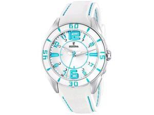 Festina Unisex Sahara F16492/2 White Rubber Quartz Watch with White Dial
