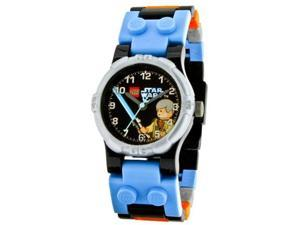 LEGO Children's LEGO Star Wars Obi-Wan 9002939 Blue Plastic Quartz Watch with Black Dial