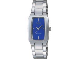 Casio LTP-1165A-2C Women's Classic Silver-toned Analog Dress Watch w/ Blue Dial