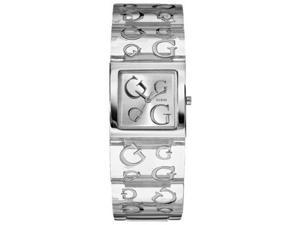 Guess Women's TIMELESS G W10102L3 Clear Stainless-Steel Quartz Watch with Silver Dial