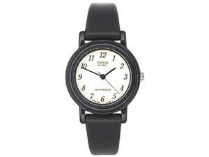 Casio Women's LQ139B-1B Black Resin Quartz Watch with White Dial