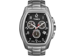 Timex Men's STYLE T2M987 Silver Stainless-Steel Quartz Watch with Black Dial