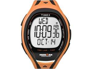 Timex Men's Ironman T5K254 Orange Resin Quartz Watch with Grey Dial
