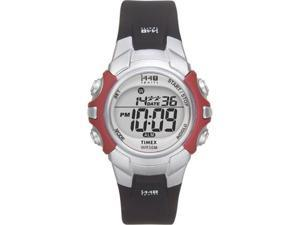 Timex Women's T5G841 Black Rubber Quartz Watch with Grey Dial