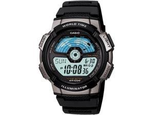 Casio Men's AE1100W-1AV Black Resin Quartz Watch with Grey Dial
