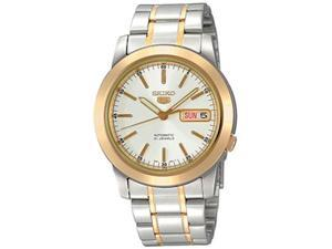 Seiko Men's SNKE54K Silver Stainless-Steel Automatic Watch with White Dial