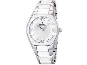 Festina Women's F16532/1 White Ceramic Quartz Watch with Silver Dial