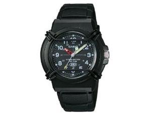 Casio HDA600B-1BV Men's Classic Casual 3-Hand Analog Black Watch w/ Resin Band