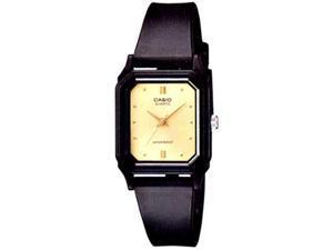 Casio Women's LQ142E-9A Black Resin Quartz Watch with Beige Dial