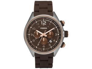 Fossil Men's CH2727 Brown Silicone Quartz Watch with Brown Dial