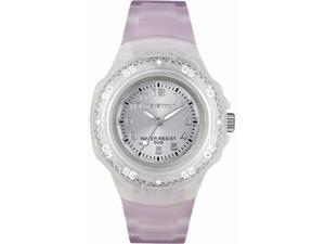 Timex Women's T5K368 Pink Resin Quartz Watch with Pink Dial