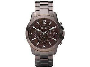 Fossil Grant Plated Stainless Steel Brown Dial Men's watch #FS4608