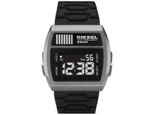 Diesel Men's DZ7205 Black Silicone Quartz Watch with Black Dial