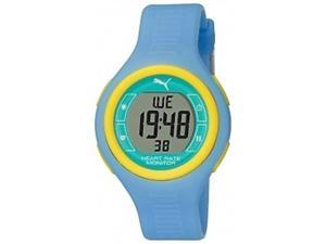 Puma Unisex PU910541013 Blue Polyurethane Quartz Watch with Grey Dial