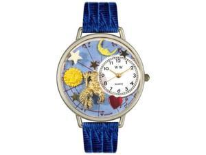 Aquarius Royal Blue Leather And Silvertone Watch #U1810001