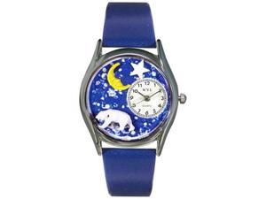 Polar Bear Royal Blue Leather And Silvertone Watch #S0150014