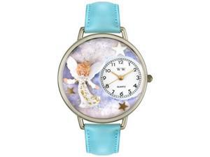 Angel Baby Blue Leather And Silvertone Watch #U0710005