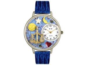 Libra Royal Blue Leather And Silvertone Watch #U1810008