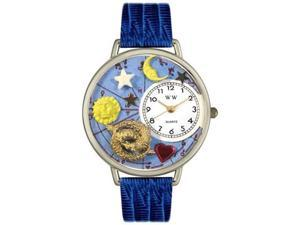 Pisces Royal Blue Leather And Silvertone Watch #U1810009