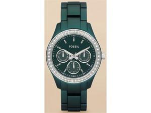 Fossil Women's ES2951 Green Stainless-Steel Quartz Watch with Green Dial