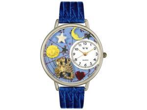Scorpio Royal Blue Leather And Silvertone Watch #U1810011