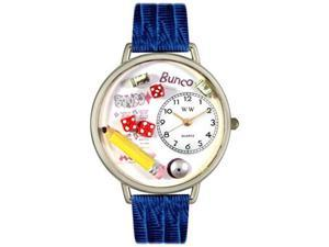 Bunco Royal Red Leather And Silvertone Watch #U0430010