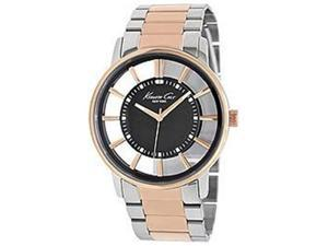 Kenneth Cole Men's Transparency KC9105 Silver Stainless-Steel Quartz Watch with Silver Dial